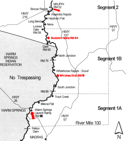 Deschutes River (OR) - August 13-16, 2015 - Warm Springs to ... on chiwawa river map, cascade lakes map, nevada creek float map, salmon river map, cherokee river map, snake river map, grande ronde river map, maries river map, stevens river map, park river map, rogue river map, wahkiakum river map, columbia river map, lostine river map, yellowstone river map, south yamhill river map, salem river map, st. johns river map, oregon map, middle fork john day river map,